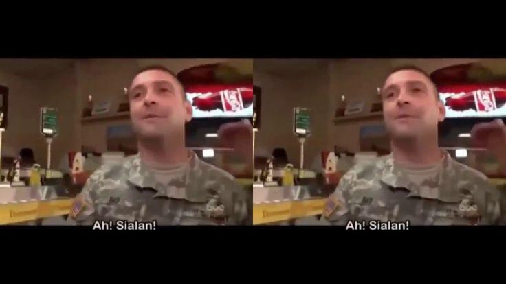 KEREN! Tentara Amerika Bela Muslim Yg Dihina Ditempat Umum!