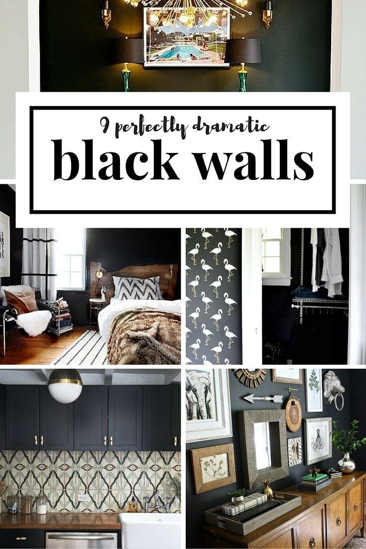 9 Rooms with Black Walls | Houseologie
