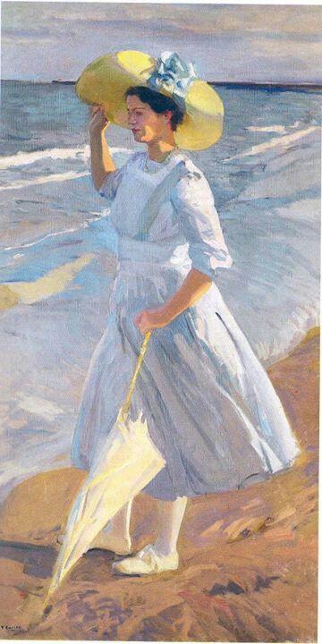 Joaquín Sorolla (1863-1923) - Elena Sorolla en la playa (detail)