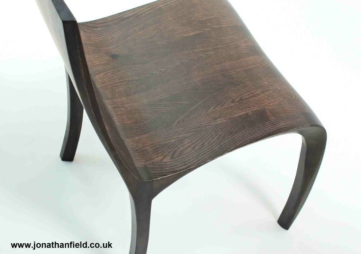 Chair in ash, finished with a dark ebony stain and oiled. One of an edition of five. Designed to go with the Ash Ebony Desk 46cm x 46cm x 86cm H Jonathan's work is shown by Connaught Brown. www.jonathanfiled.co.uk