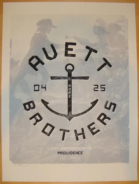 2012 Avett Brothers - Providence Concert Poster by Vastagh | JoJo's Posters