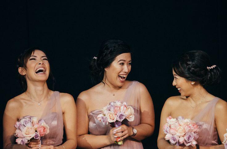 Bridesmaids at Chinese wedding