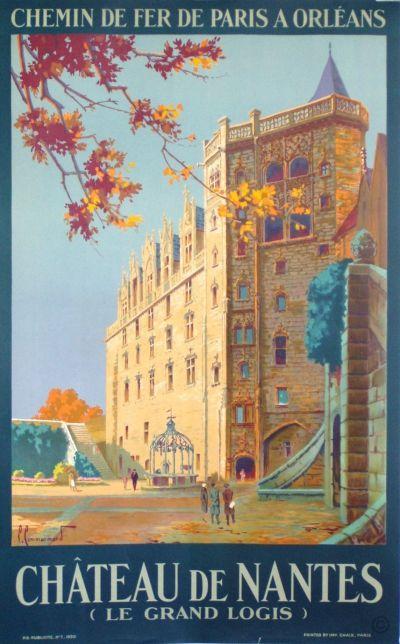 Château de Nantes, le Grand Logis - années 1930 - illustration de Pierre Commarmond