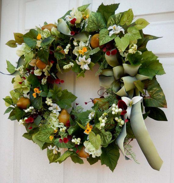Spring Wreath Hydrangea Wreath Summer Wreath by forevermore1