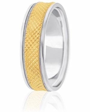 18ct white gold wedding ring 6mm dasher