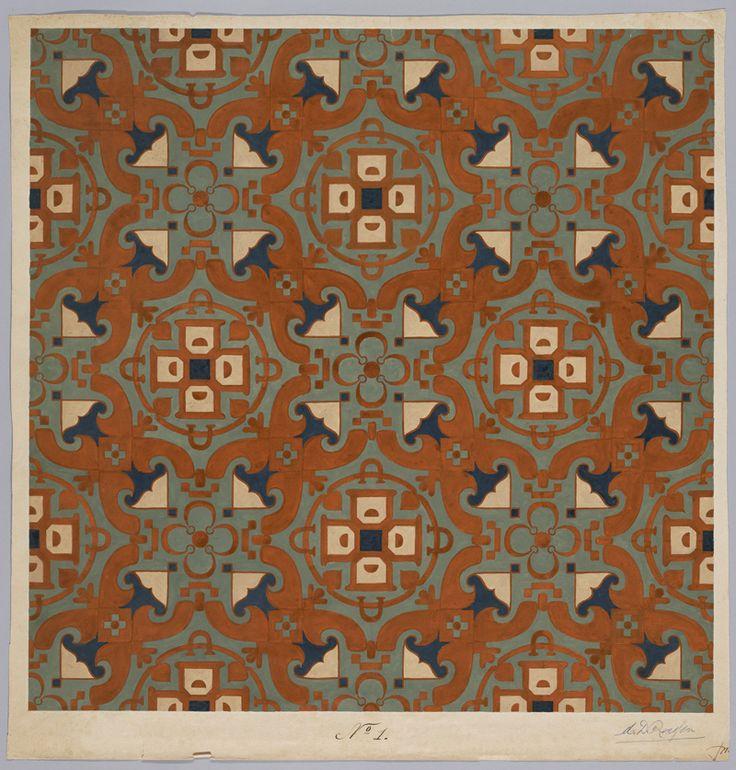 Carpet Design by M.D. Renssen, 1895 / 1899. Deventer Musea, CC BY-SA