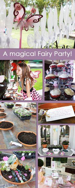 "Photo 31 of 55: Fairy Garden Party / Birthday ""Emelia's Magical Fairy Garden Party""   Catch My Party"