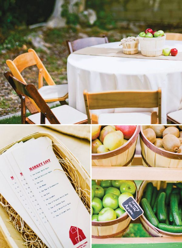Charming Farmer's Market First Birthday Party