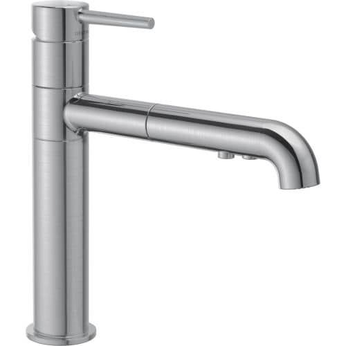 Delta 4159-DST Trinsic Pull-Out Kitchen Faucet - Includes Lifetime Warranty (Stainless Steel (Silver) Finish)