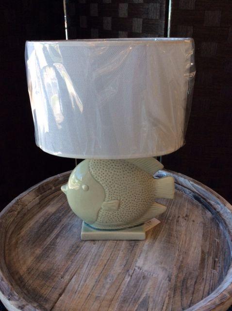 Teal fish Table Lamp