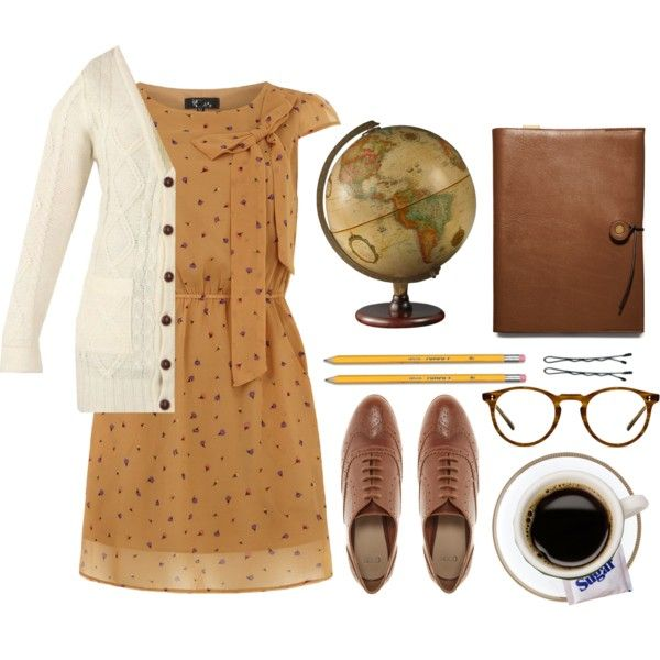 {librarian outfit} this is very fascinating! it would be easy to locate a store that would have such a sweater. but i can Never accomplish such to find shoes of that color and style.