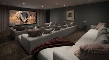 Oriole Way - contemporary - Home Theater - Orange County - McClean Design
