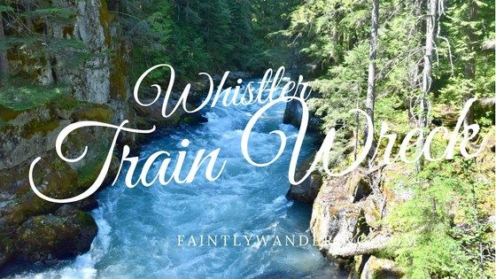 A train wreck from the 1950's on a gorgeous hike near Whistler Village in BC