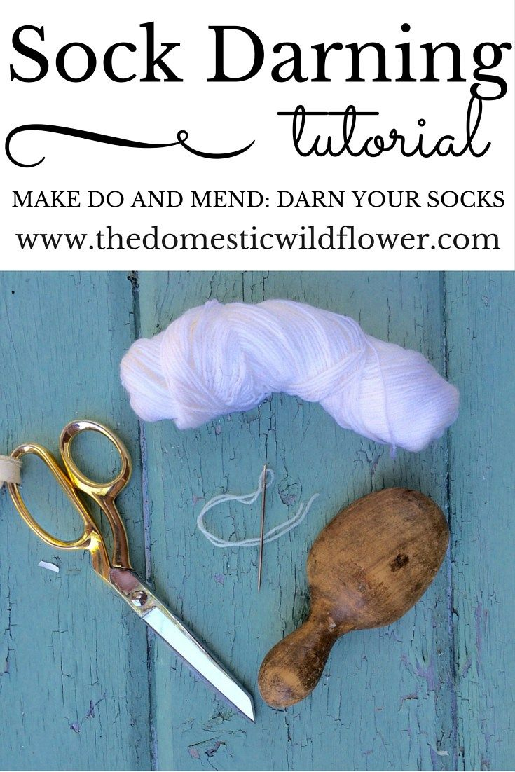 How to Darn Socks Tutorial | The Domestic Wildflower click to read the easy tutorial, including video, for darning socks!