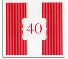 Red number Surprise Party Invitation from Heritage Stationary
