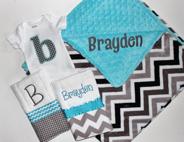 Baby boy stuff! Love these colors