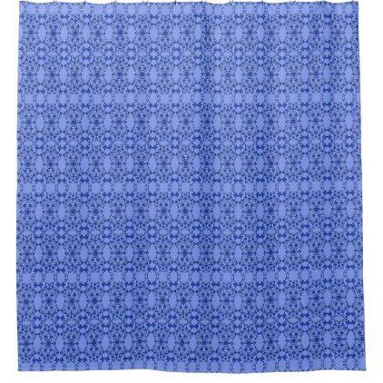 #modern - #Shower Curtain--Floral Blue On Blue Shower Curtain