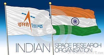 Bandiera indiana di organizzazione di ricerca spaziale, India, archivio di vettore, illustrazione