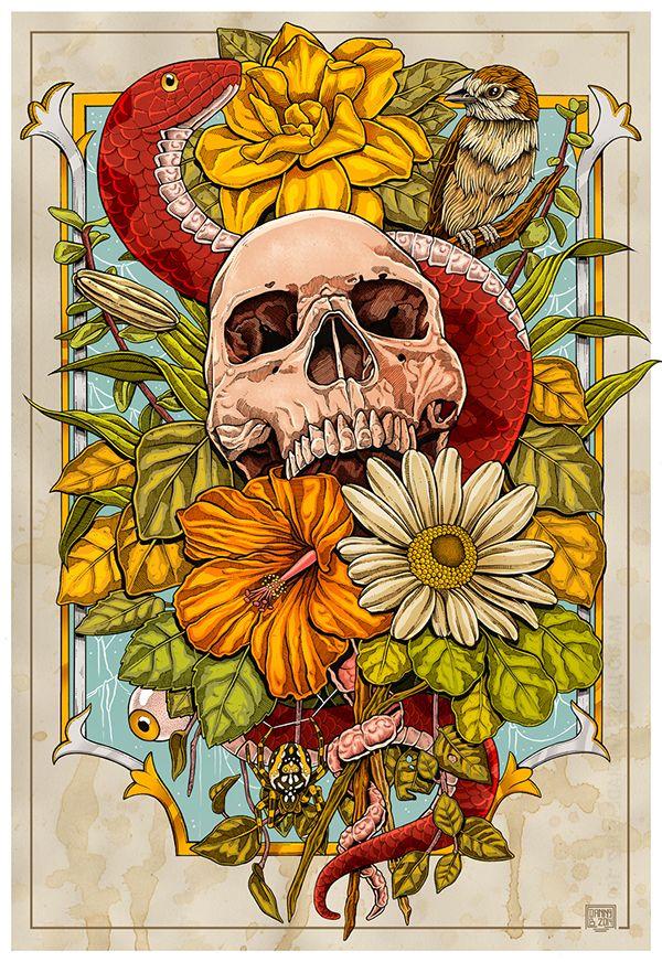 Nature on Behance #skull
