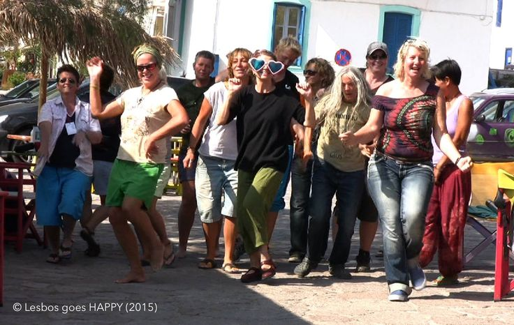 Dancing in the streets of Skala Eressos, Lesvos. Come dance with us next year. Check out our website for the two Lesvos itineraries for 2016.