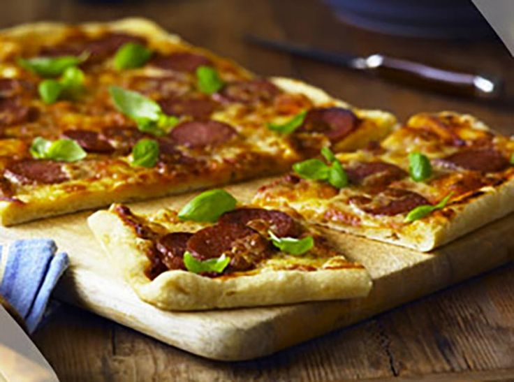 Pepperoni & Basil Pizza: For an easy weekend treat for friends and family look no further than DON® Pepperoni and basil pizza. Spicy pepperoni works beautifully with silky mozzarella and fresh basil.