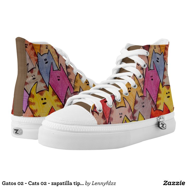 Gatos 02 - Cats 02 - zapatilla tipo converse High-Top Sneakers - Printed Unisex Canvas Slip-On #Shoes Creative Casual #Footwear #Fashion #Designs From Talented Artists - #sneakers #feet #fashion #design #fashiondesign #designer #fashiondesigner #style