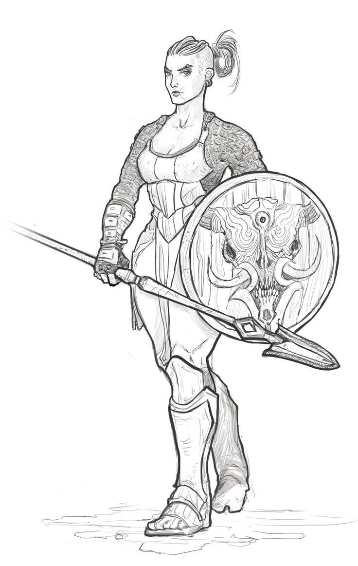 воин, fantasy, warrior, girl warrior, варвар, девушка воин, barbarian, девушка с мечом, лайнарт