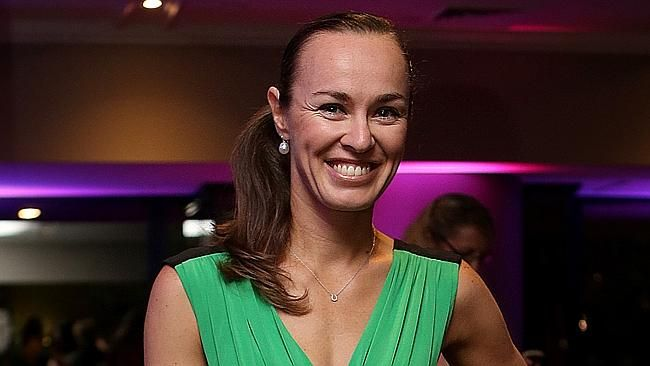 Hingis returns for a double shot