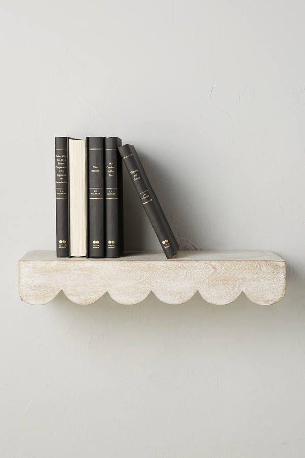 scalloped shelf