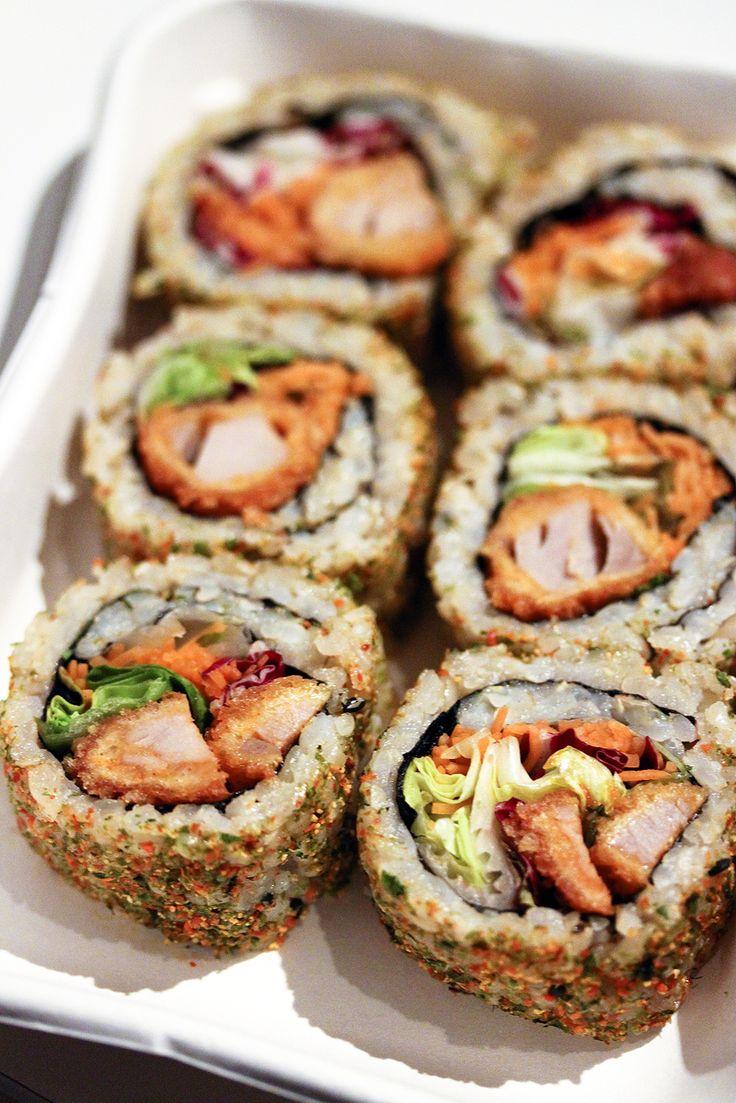 Spicy Tuna Tempura Maki - Link leads to spicy tuna rolls.  For Tuna Tempura recipe inside the rolls - http://www.bostonchefs.com/recipe/yellowfin-tuna-tempura-avocado-salsa-and-soy-dippi/