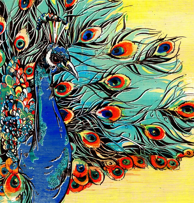 Peacock. $35.00, via Etsy.