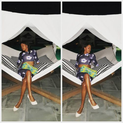 Print and pattern fest. This outfit. So nice I hadda rock it twice. Sorry if you feel some typa way. S/O to @cashhimi for this gorgeous Pyhton purse and @jghandour for these Python pumps. @arnoldmilfort keeps me so steezed tho  Yes #feelingmyself #youmad? Q#norules #faShon #Hamptons #4thofjuly #tbt