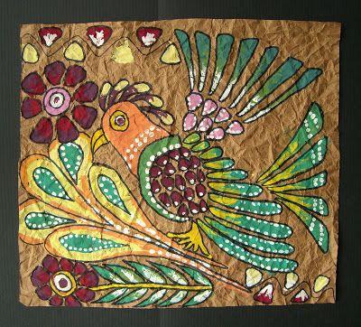 Mexican Bark Painting | TeachKidsArt