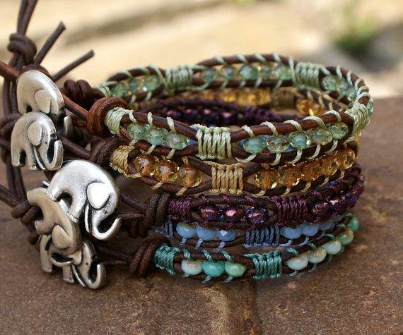 Elephant wrap bracelet  lucky charm boho chic by Mollymoojewels...cute gift idea for my niece! ;)