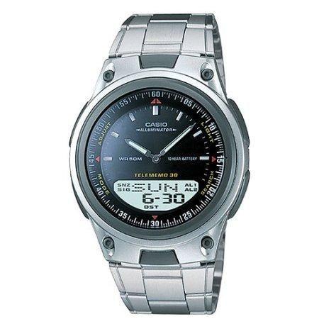 Ana Digi Casio Databank Watch S Men Aw80 Forester 1av Battery Stainless Steel Resin