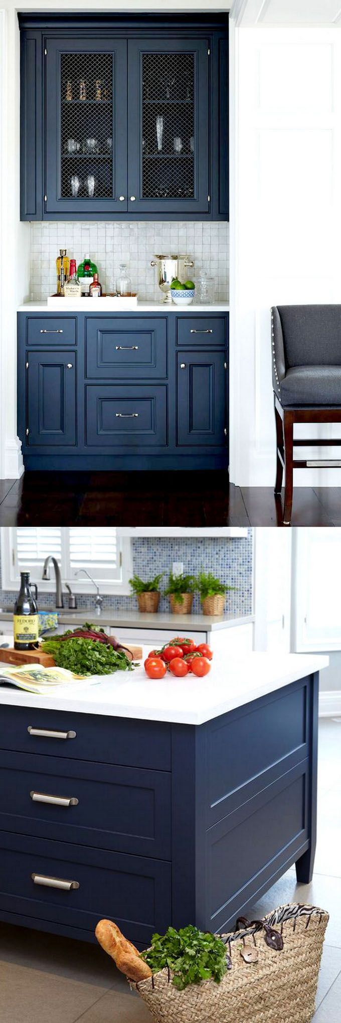 Bm Raccoon Blue & Hale Navy-25 Gorgeous Paint Colors for Kitchen Cabinets (and beyond) - Page 4 of 4 - A Piece Of Rainbow