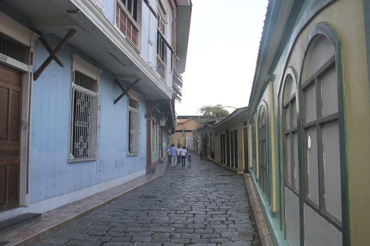 Street in Las Peñas - Guayaquil, Ecuador