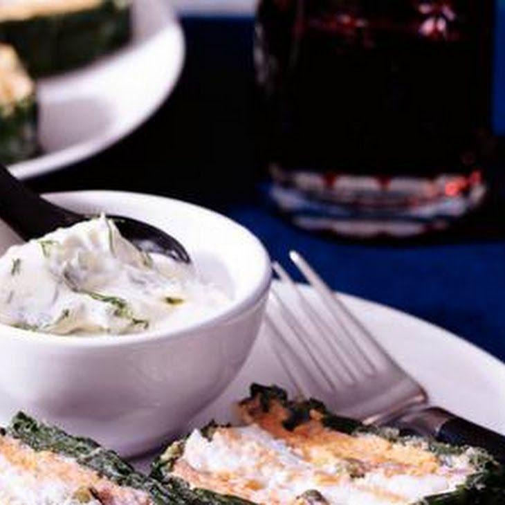 Zalmterrine Met Spinazie Recept recept met bladspinazie, zalmfilets, kabeljauwhaas, eieren, kookroom, kappetjes, zalmfilets, crème fraîche, citroensap, dille, suiker