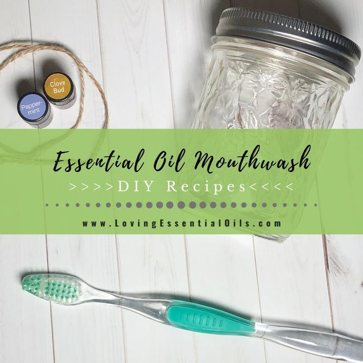 Homemade Tea Tree Oil Mouthwash with Peppermint (DIY