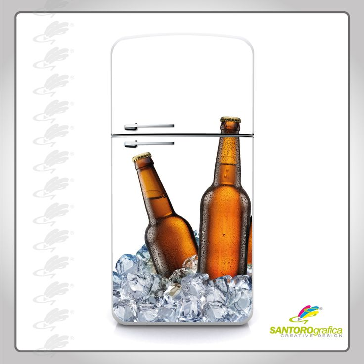 #ilmiofrigopersonalizzato #solodasantorografica adesivo per frigo, birra - color ambra.