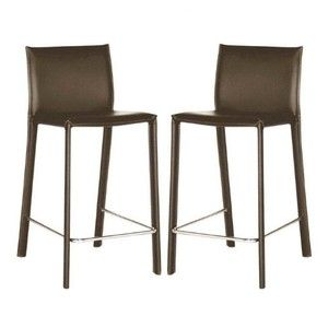 Crawford Counter-Height Leather Bar Stool - Set 2