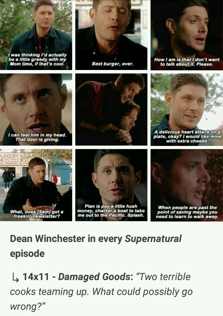 Dean Winchester In Every Supernatural Episode Supernatural 14x11