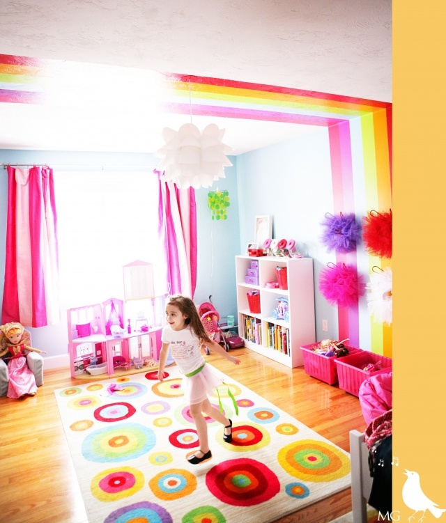 Best 25 rainbow girls rooms ideas on pinterest rainbow for Rainbow kids room