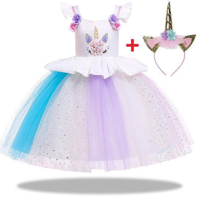 2019 New Summer Unicorn Dress For Girls Kids Unicorn Party Dress Cotton Rainbow Tutu Toddler Girl Princess Dress Vestidos Punctual Timing Girls' Clothing