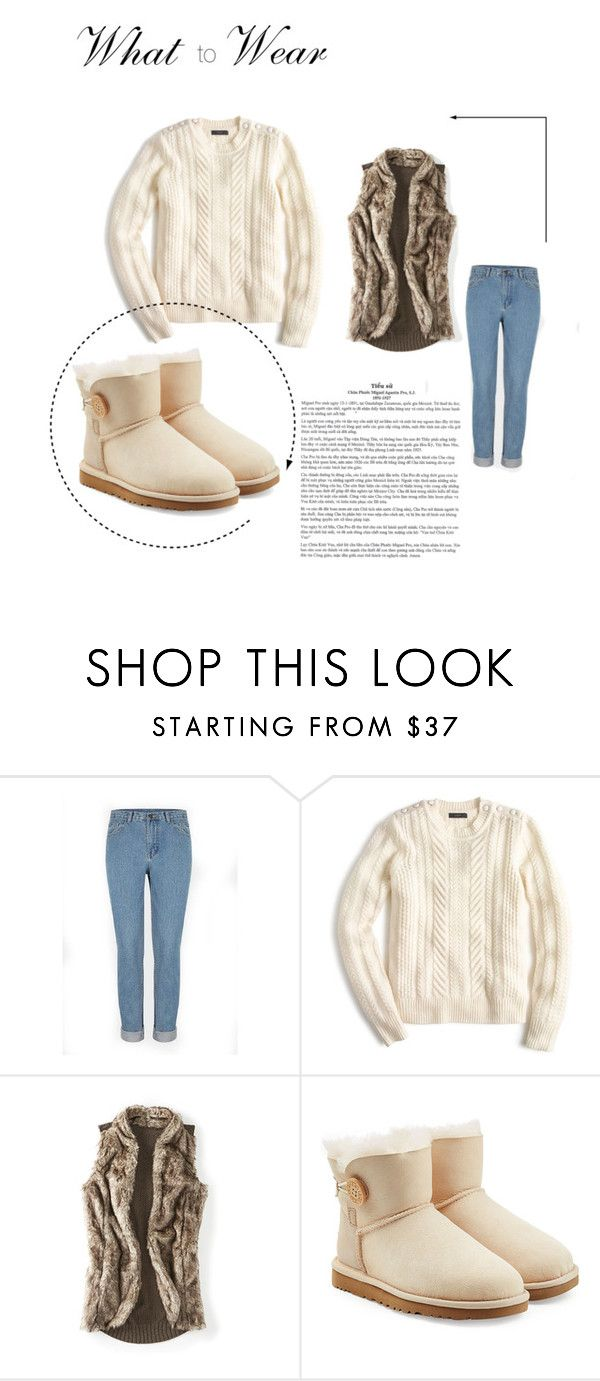 """women look christmas"" by baby-jam on Polyvore featuring мода, J.Crew, maurices и UGG Australia"