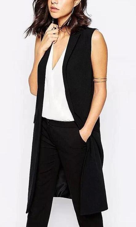 1 279,52 руб. Ha10 мода 2016 офис леди элегантный куртки жилеты для женщины без рукавов черный верхней одежды свободного покроя бренда colete feminino пальто купить в магазине IDOL Fashion (offer Drop shipping) на AliExpress