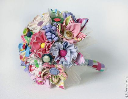 Свадебные цветы ручной работы. Ярмарка Мастеров - ручная работа. Купить Букет из ткани Ситцевый букет. Handmade. Разноцветный, розовый