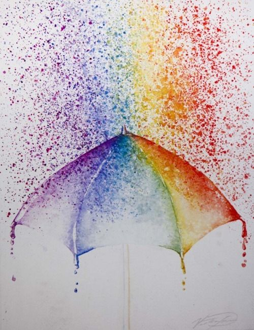 colorful rain!