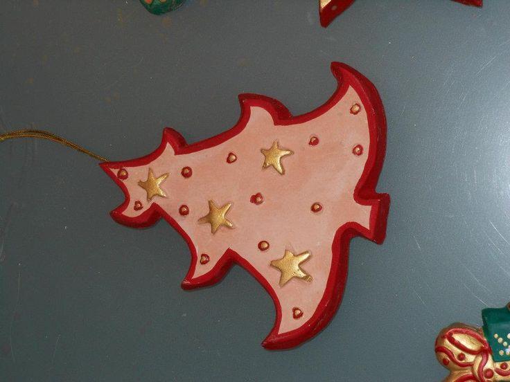 Oggetti in similceramica, creati da me per il nostro albero di Natale