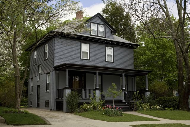 Looking at this color combination for our house, which is now white on white. #paint, #exterior, #house